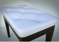 3d model of piano bench