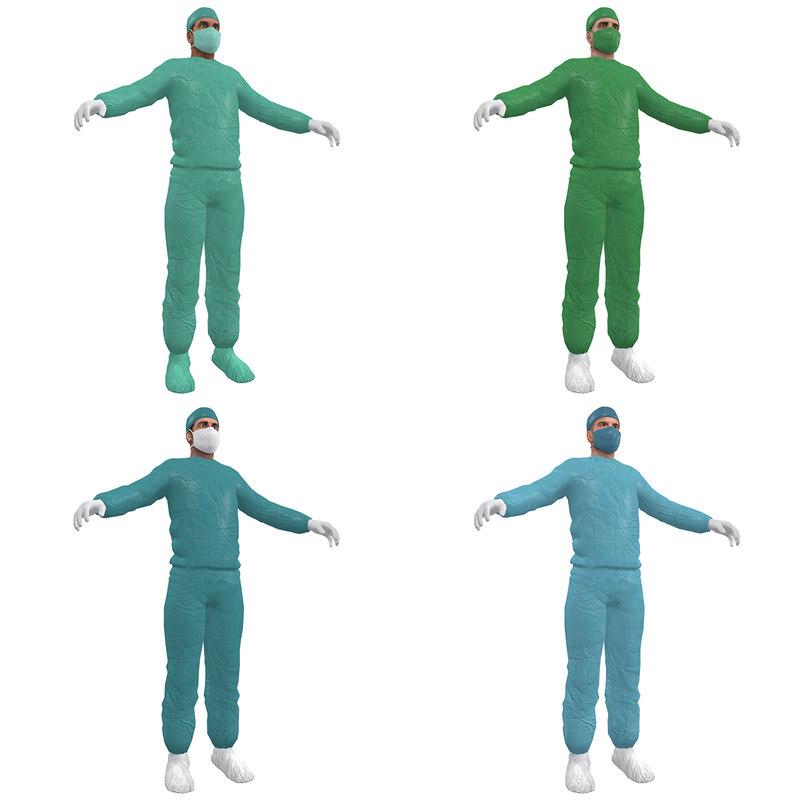 3d pack surgeon model
