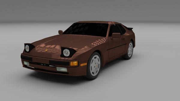 3d model porsche 944 s