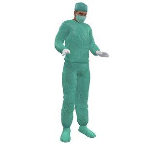 3d rigged surgeon model
