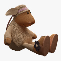 3d toy sheep nici model