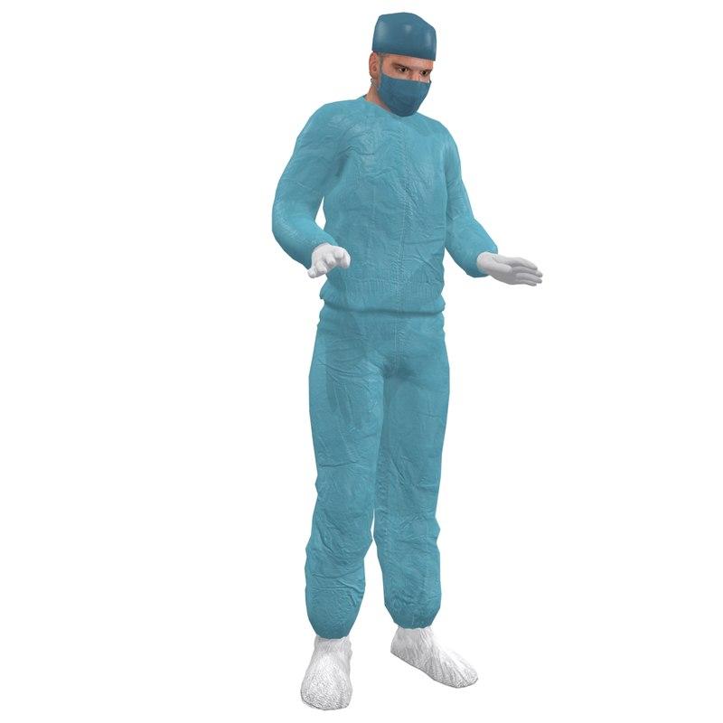 3dsmax rigged surgeon