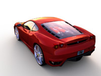 rigged ferrari f430 animations 3d max