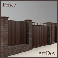 fence cottages 3d obj