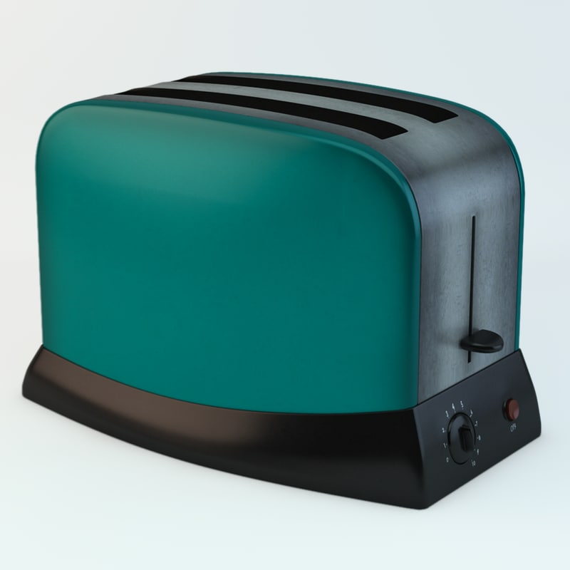 appliance 1960 retro 3d model