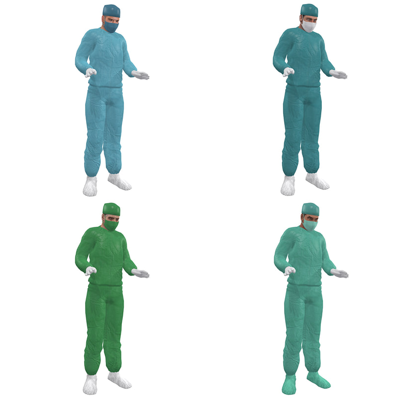 pack rigged surgeon 3d model