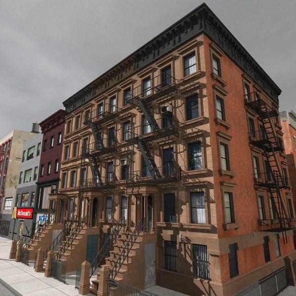 city buildings 3d max