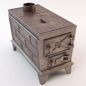 3d oven stove model
