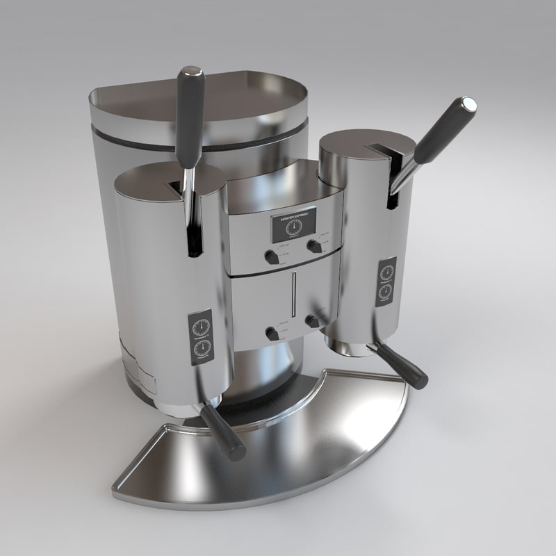 manual coffee maker 3d max