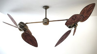max twin head ceiling fan