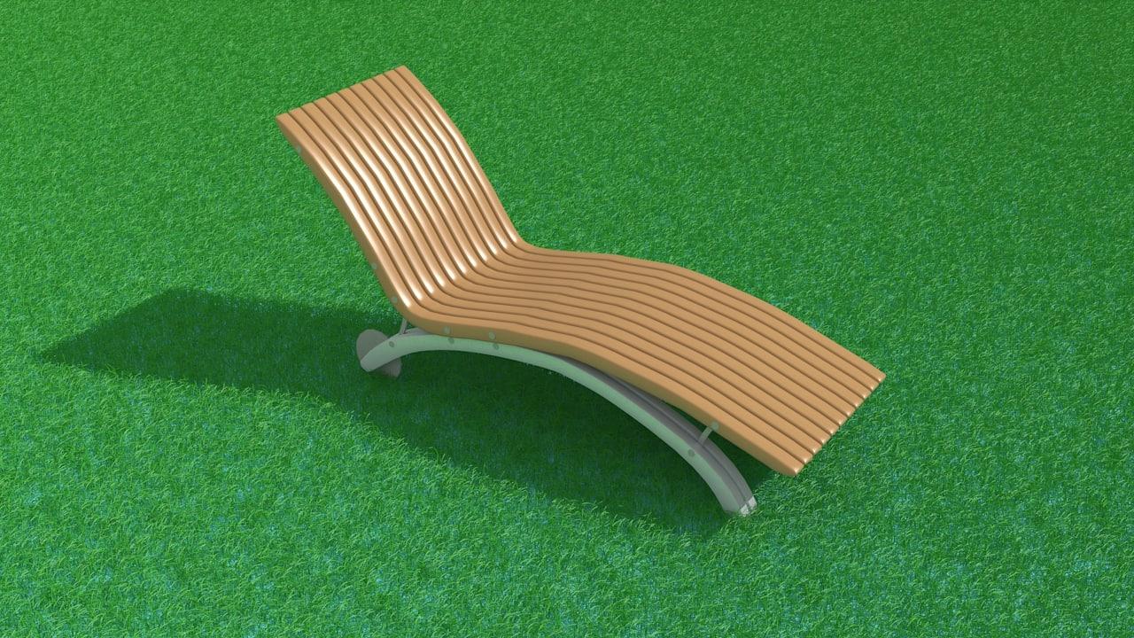 3d chaise longue