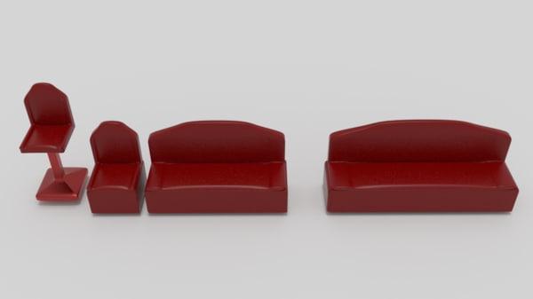 3ds furniture futuristic sci