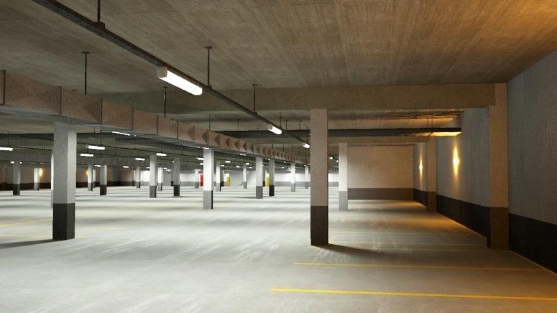 3ds max underground parking