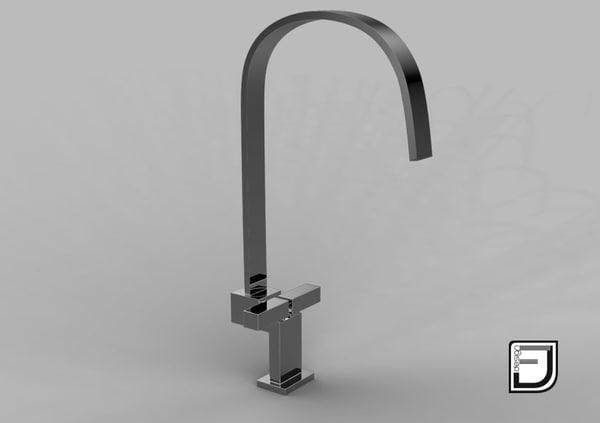 3d kitchen faucet 10 model