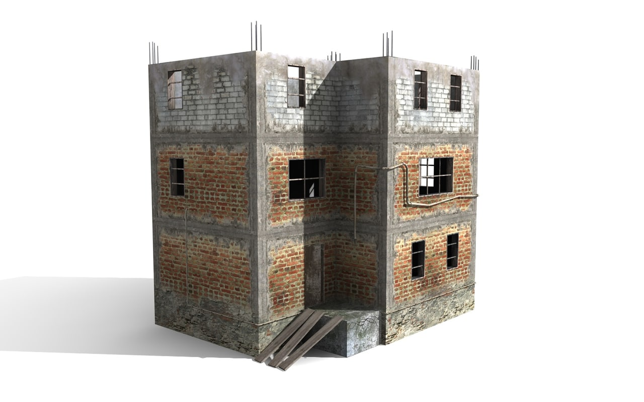 brick old house c4d
