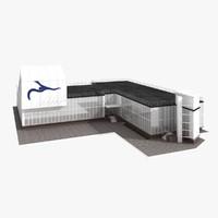 3d model sport school building