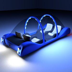 3d futuristic maglev car