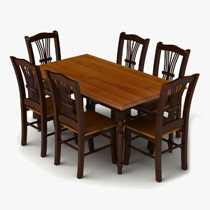 3d model of set dining