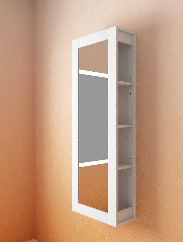 3d max mirror storage white