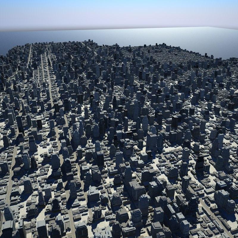 3dsmax cityscape scene city streets