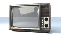 3d model of old tv