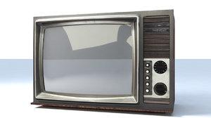 3d model of old tv