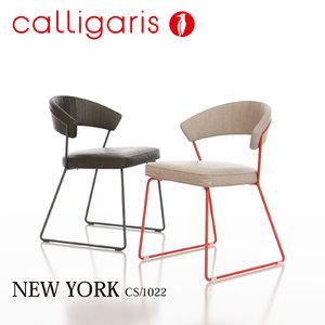 3d calligaris new york metal chair model