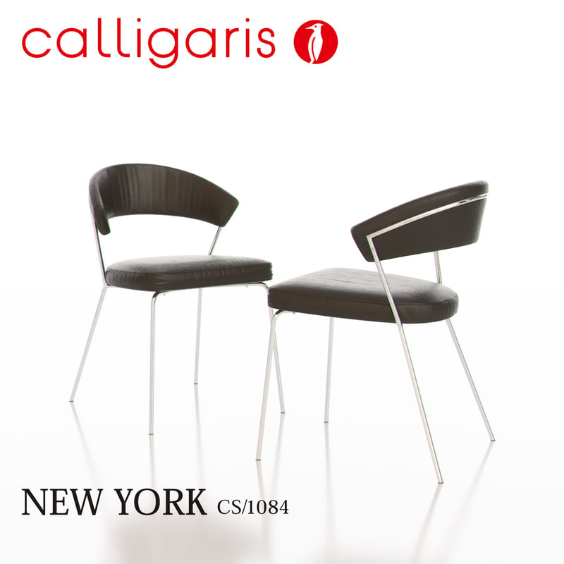 3d calligaris new york metal chair