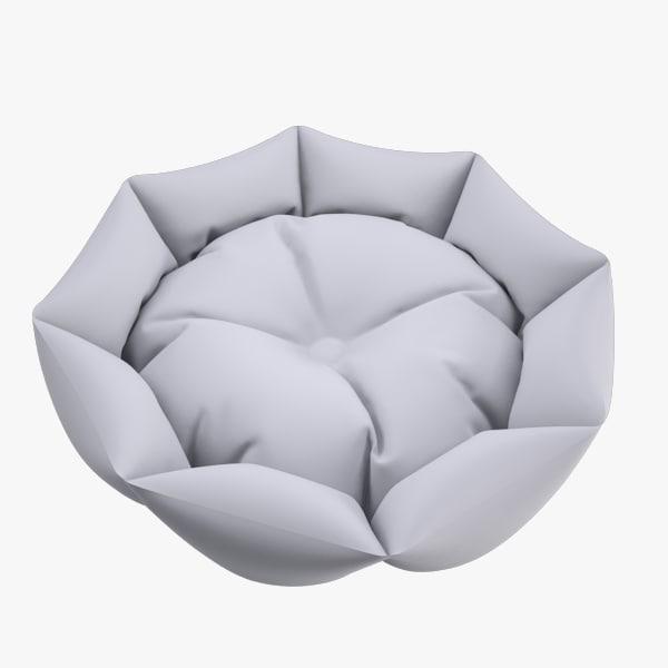 3d hi-poly bed pets v1 model