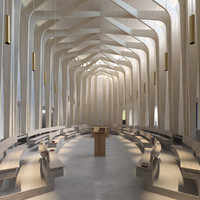 bishop chapel interior 3d model