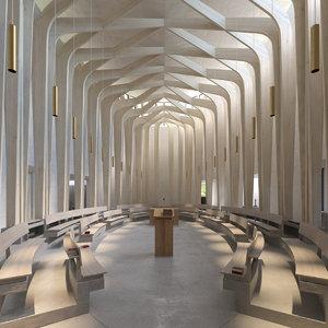 bishop chapel interior 3d model