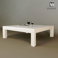 3d model white cocktail table