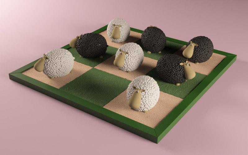 3d sheeps play model