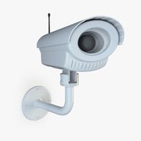 security camera 04 3d dwg