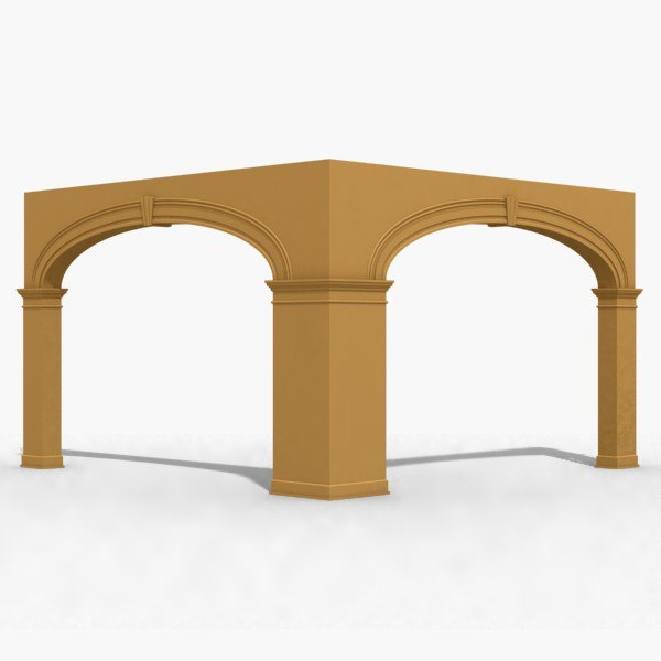 3d model arch architecture archway