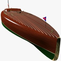 3d model speed motor boat baby