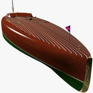 3d model speed motor boat baby