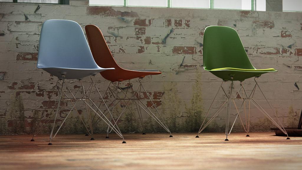 3d vitra eames plastic chair