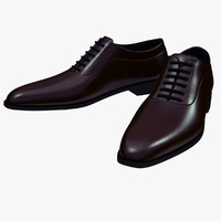 Men's Shoes High Res HD Leather V-Ray
