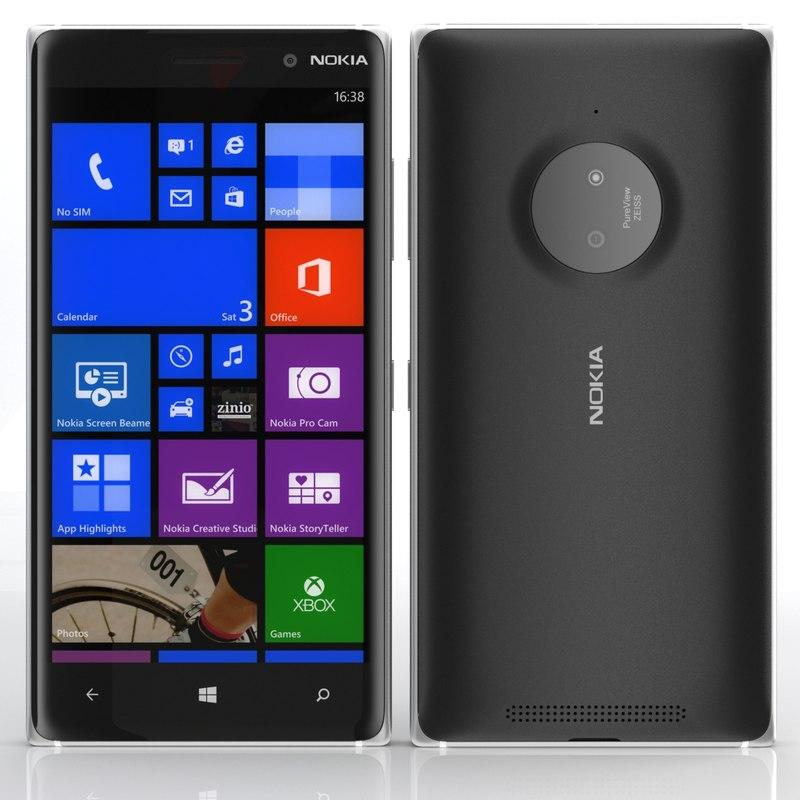 3d nokia lumia 830 model