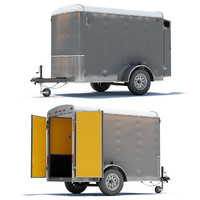 3d closed cargo trailer model