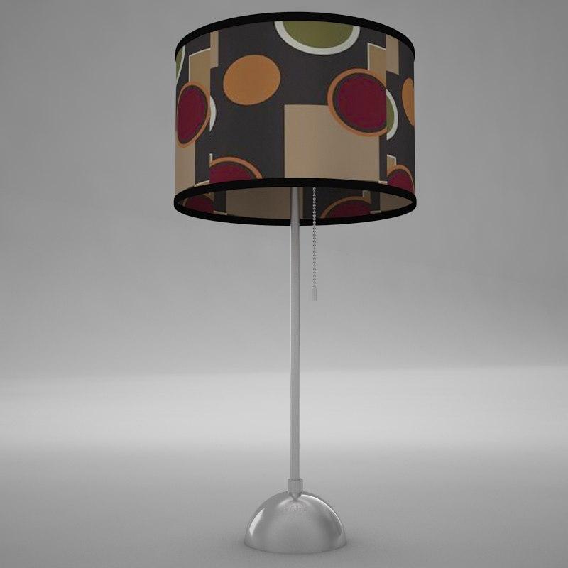 lamp scene 3d model