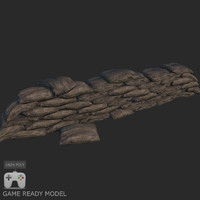 sandbag barrier 3d max
