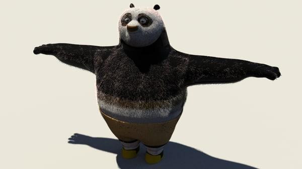 3d model kung fu panda