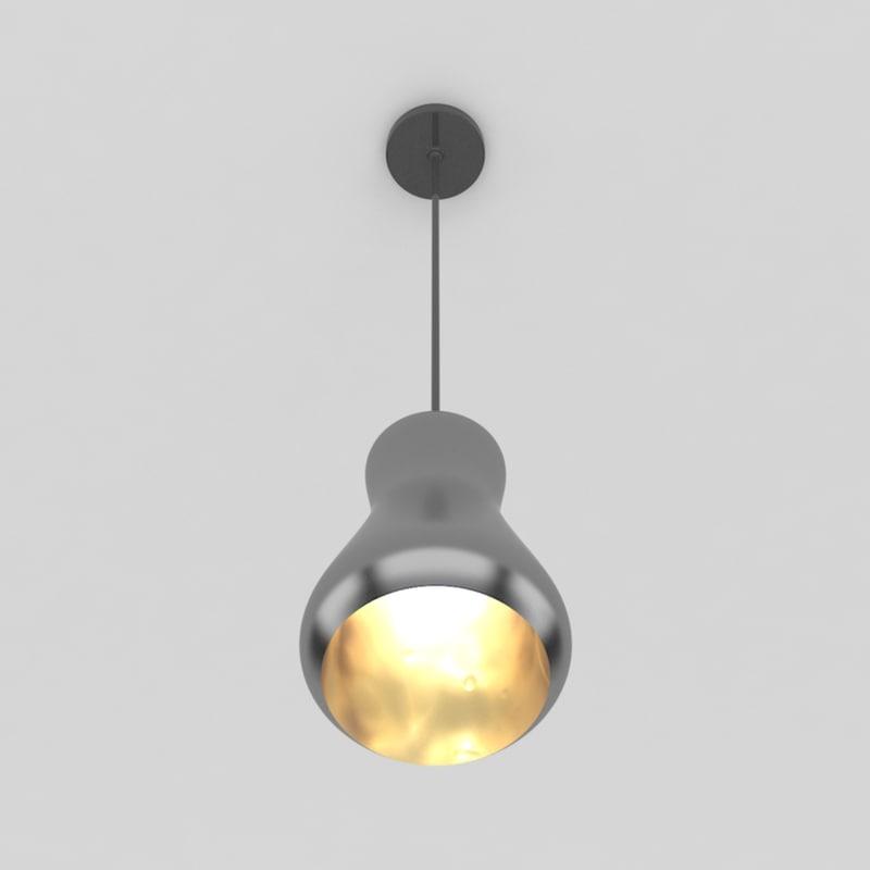 3d max pendant lamp 2 bulb light