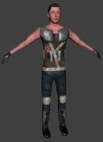 sci-fi human 3d model