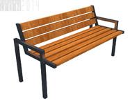 street chair 1 3d model