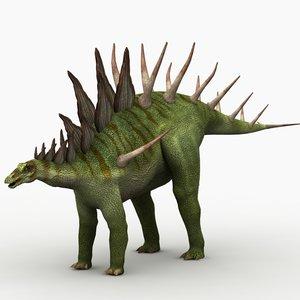 3d kentrosaurus dinosaur animation