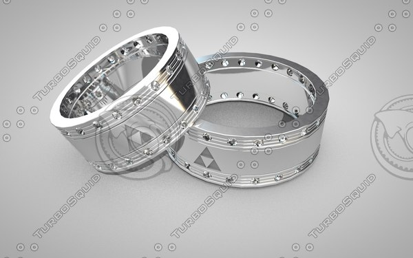 3d ring wedding