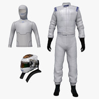 sparco race suit helmet 3d model